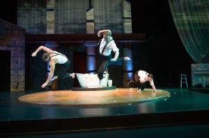 The boys of Big Love doing acrobatics