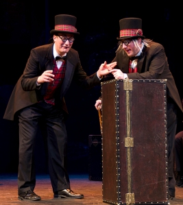 Michael Phillip Thomas and Brandy Joe Plambeck in 'The 39 Steps'